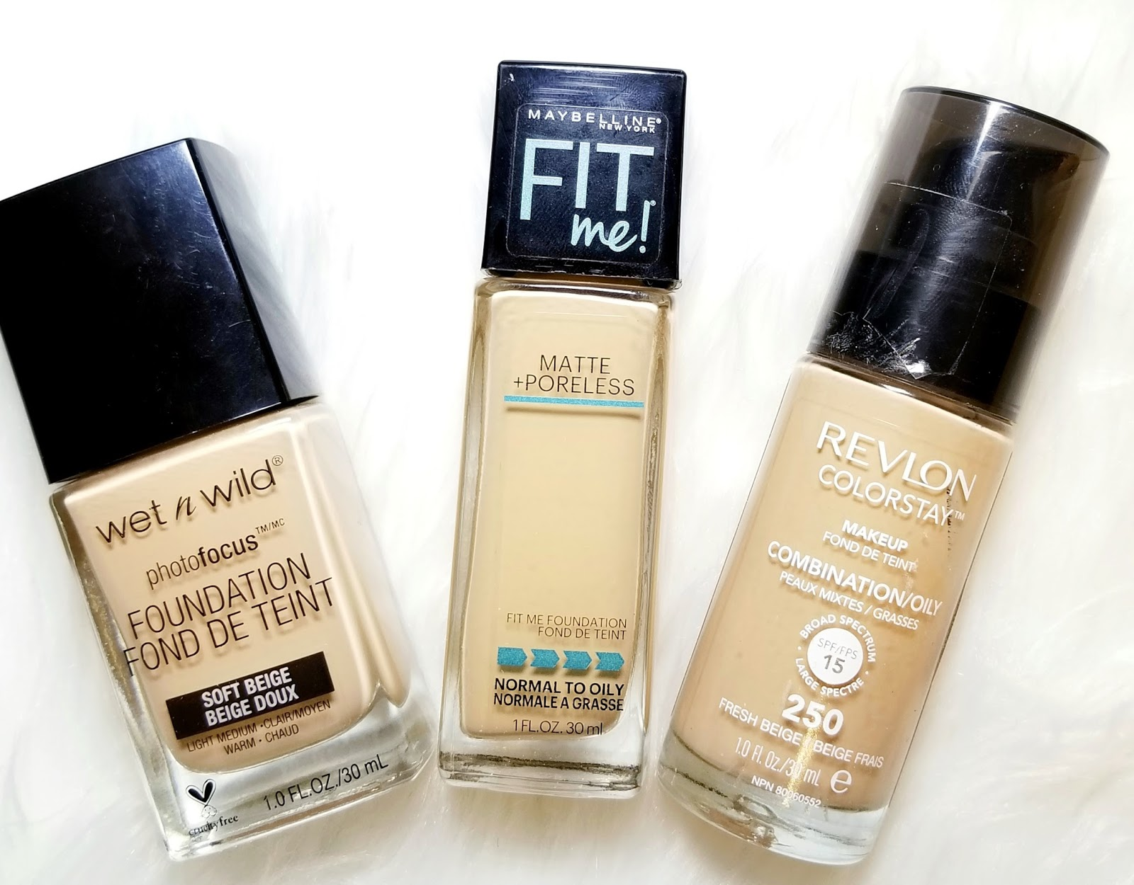 I've picked my top 3 Drugstore foundations for this post. NOW, one size DOES NOT fit all, but it may help you make a decision and well.