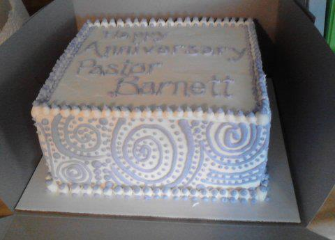 Maybecakes Pastoral Anniversary Cake