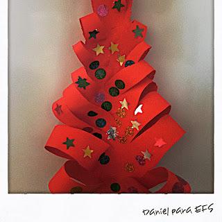 Árbol de Navidad realizado por Daniel 5 años