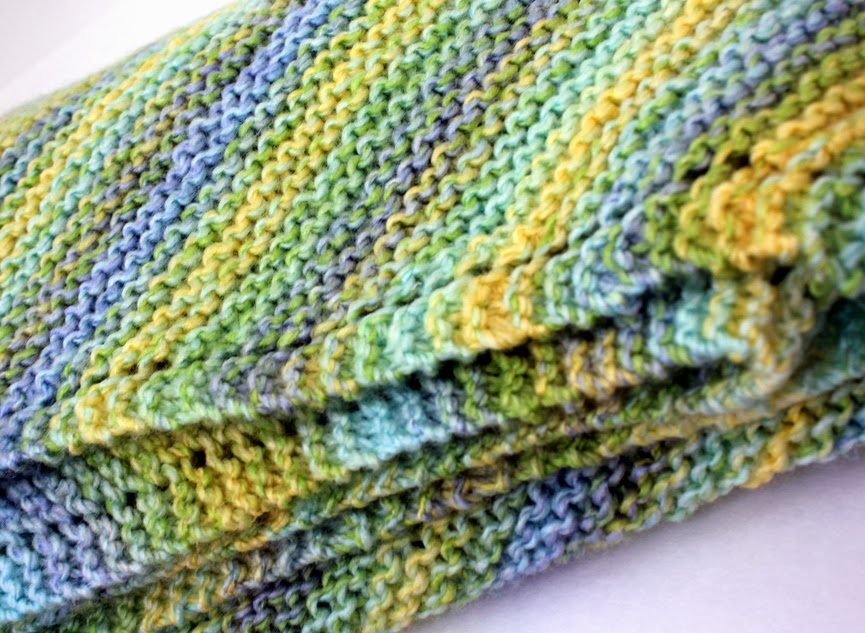Taylor Stamped: Simple Knit Baby Blanket