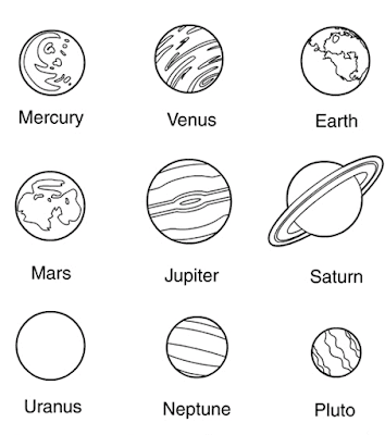 Gambar mewarnai planet - 4