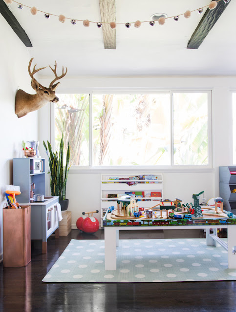 House homemade combo office and playroom inspiration for Office playroom