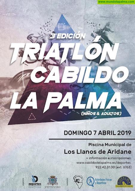 El III Triatlón Cabildo de La Palma toma este domingo Los Llanos de Aridane