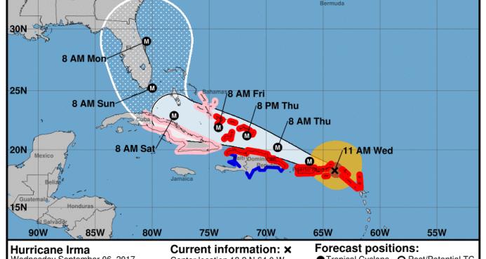 Irma se acerca a Puerto Rico, afectará a República Dominicana el jueves