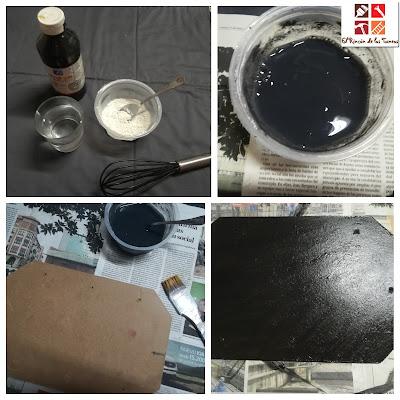 como hacer pintura a la tiza