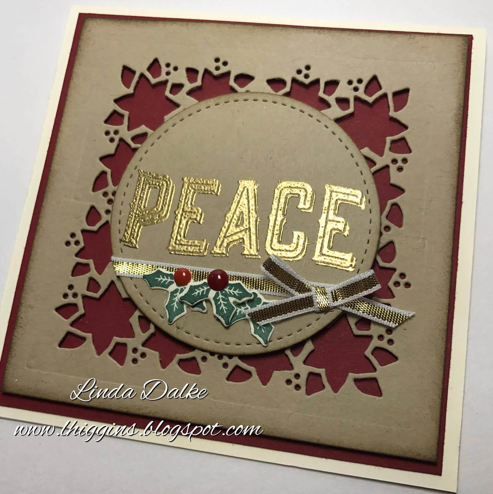 Linda Dalke Video Tutorial Square Cut Out Christmas Card With The