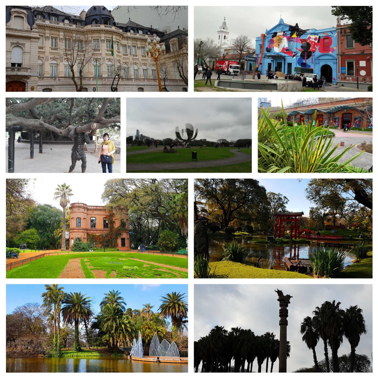 Embaixada do Brasil, Recoleta, Tree Heritage,Floralis Genérica, Arcos Distrito, Jardim Botânico, Jardim Japonês, Bosques de Palermo, Coluna Persa.