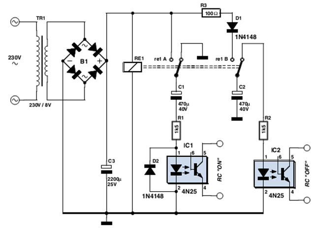 Simple Remote Control Mains Switch | Electronic Circuits ...