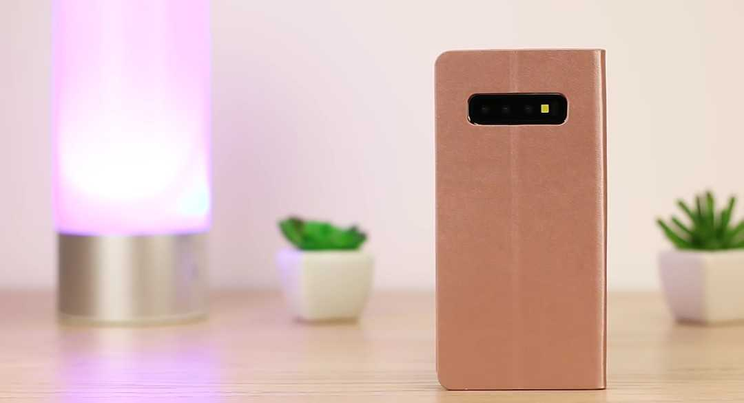 Olixar Leather Mirror Case for the Samsung Galaxy S10 Plus
