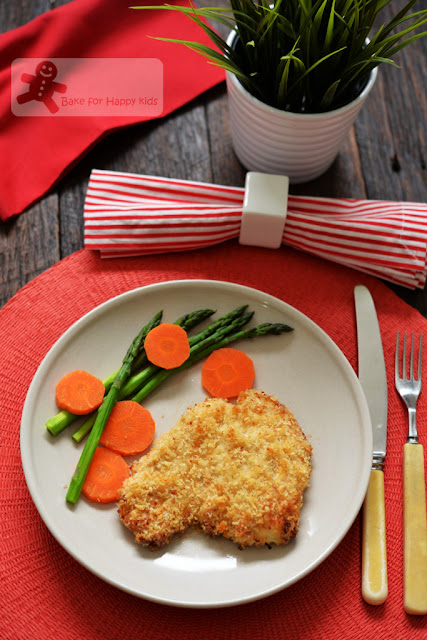 unfried oven baked crispy panko chicken