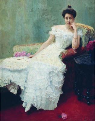 Богданов-Бельский Николай Петрович - Дама с розами