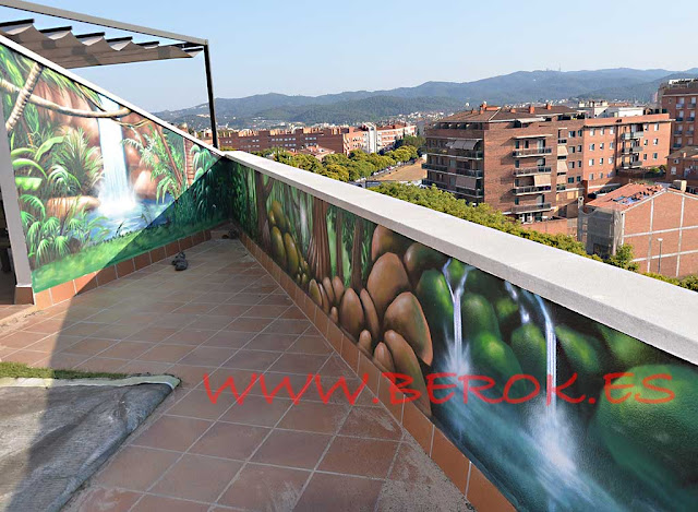 Graffiti profesional mural comercial