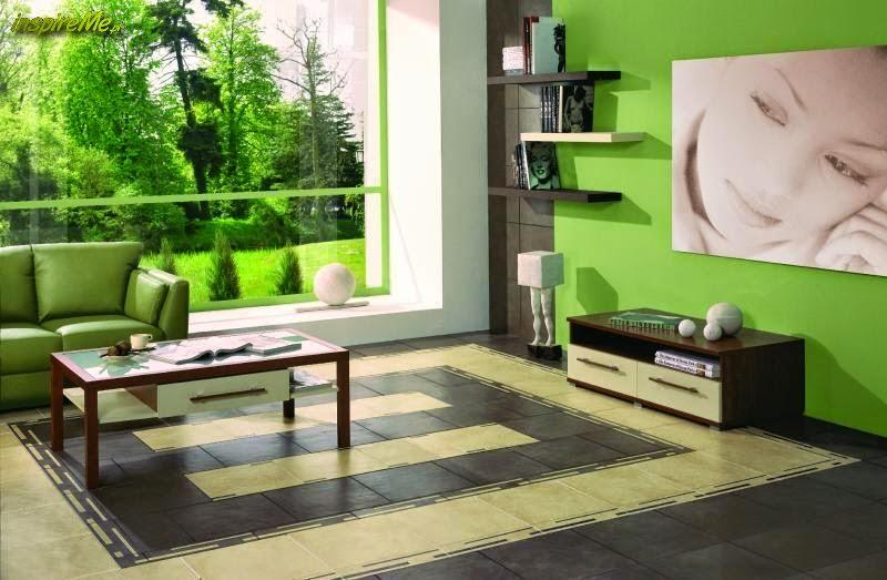 Salas en verde y gris salas con estilo for Color verde grisaceo para paredes