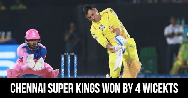 Chennai Super Kings won by 4 wickets