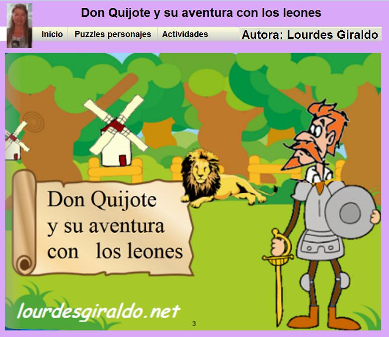 http://lourdesgiraldo.net/recursos/quijote/quijote.html