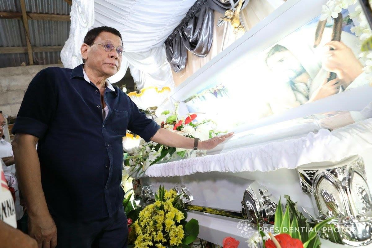 President Rodrigo Duterte visited the wake of Joanna Demafelis