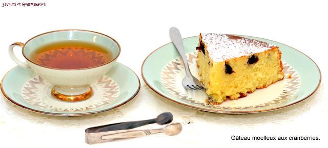 Gâteau Moelleux aux Cranberries Séchées.