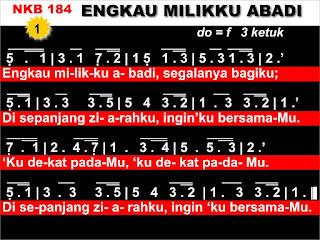 Lirik dan Not NKB 184 Engkau Milikku Abadi