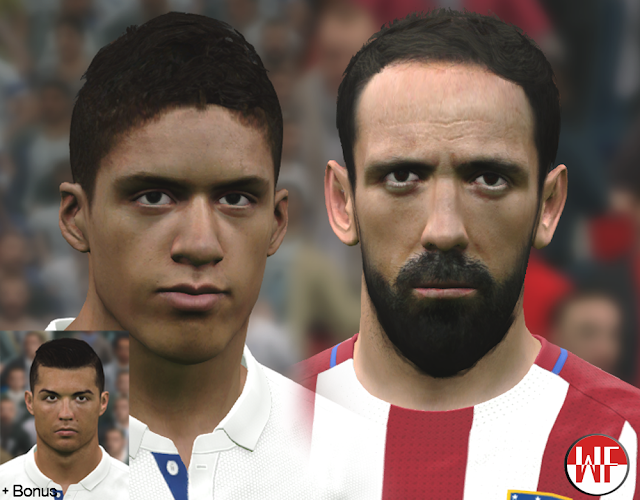 [PES2016 & PES 2017] Madrid Mini Facepack (Juanfran & Varane + Bonus CR7 face)