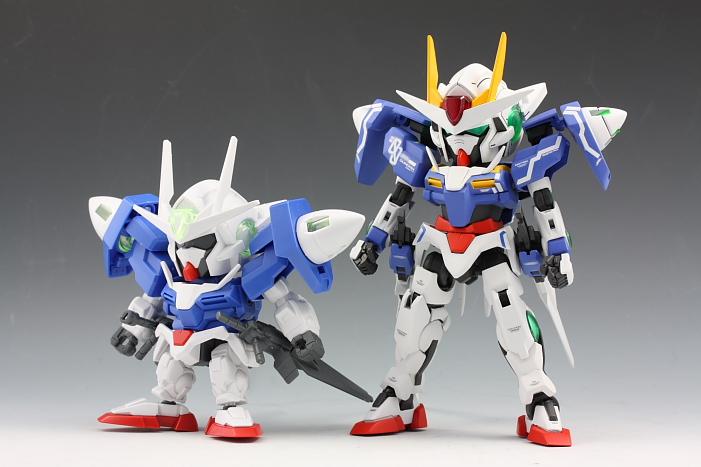 Custom Build Sd X Hg 00 Gundam Seven Sword G Raiser