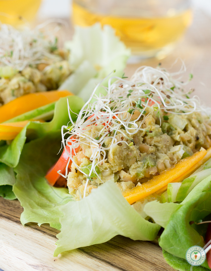AVOCADO CHICKPEA LETTUCE WRAPS #vegetarian #vegan