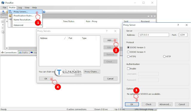 menghubungkan Inject dah SSH ke proxifier