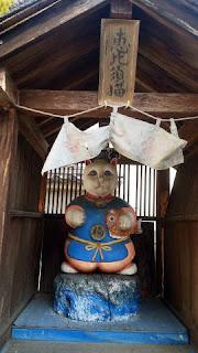 青梅市の神社 住吉神社 恵比寿猫