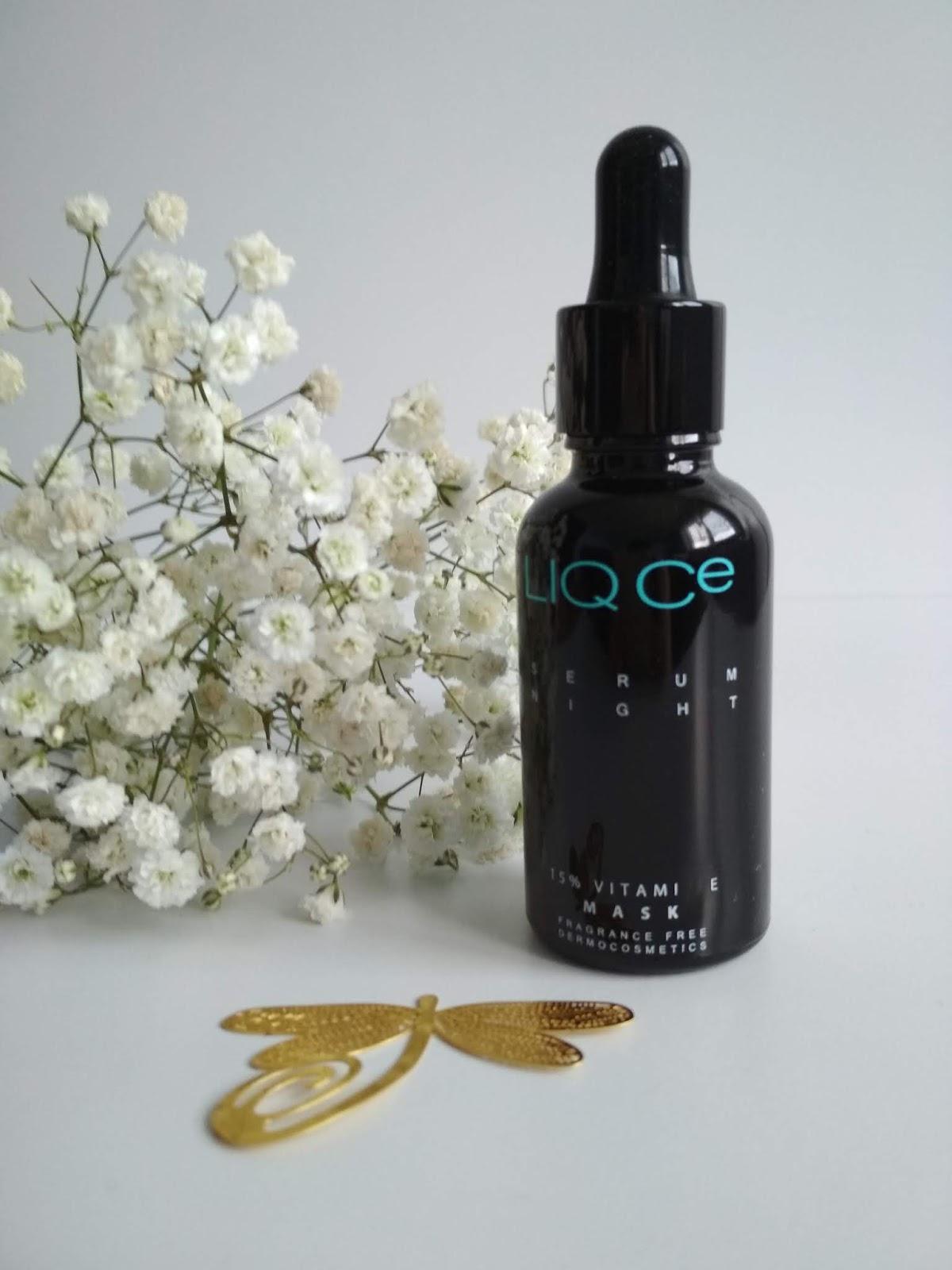 liq ce, liqpharm, serum, pielęgnacja, recenzja, kosmetyk,LIQ Ce Serum Night 15% Vitamin E MASK 30 ml Dwufazowe serum regenerująco-odżywcze na noc, liqpharm