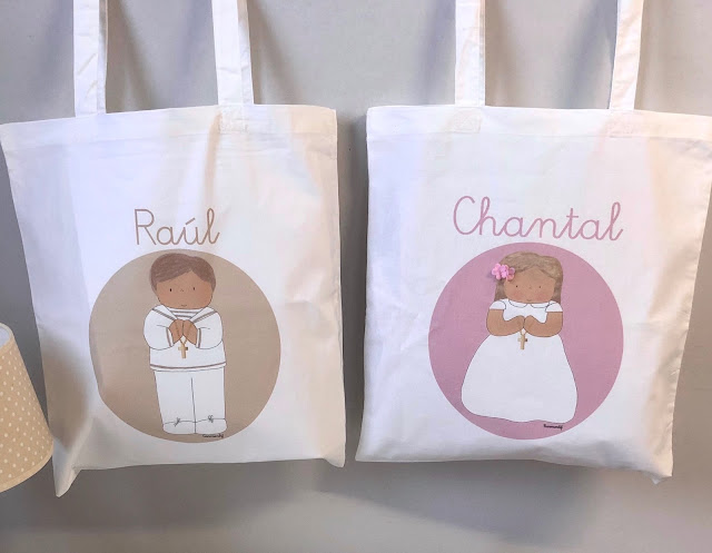 Bolsas de tela impresas para PRIMER COMUNIÓN