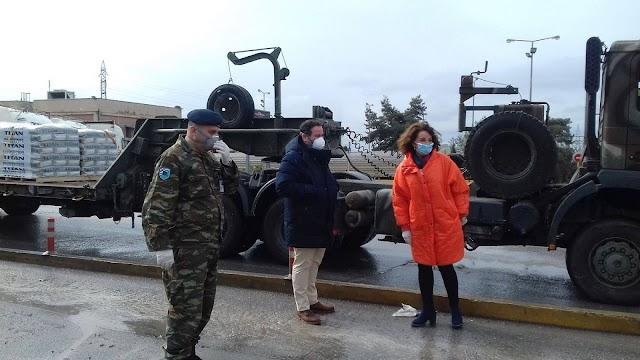 Έβρος: 25 τόνοι τσιμέντου στα στρατόπεδα με πρωτοβουλία Πατουλίδου