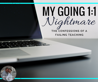 When going 1:1 in the secondary classroom, I was completely caught off guard and unprepared for what would happen with my middle and high school students. The laptops changed everything in my classroom. Click to read how I had to adapt...