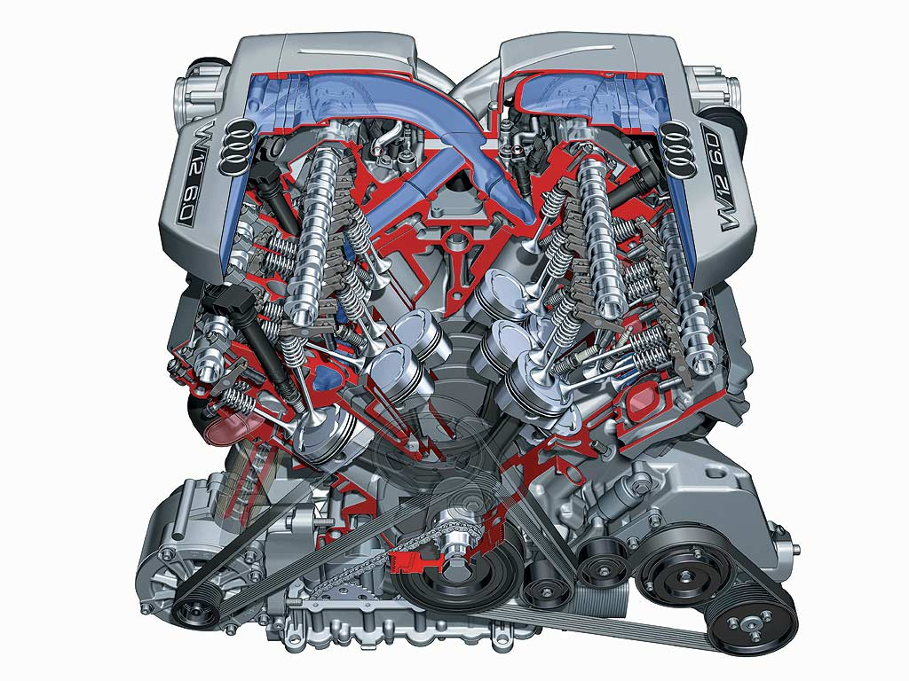 hight resolution of w type 12 cylinder engine