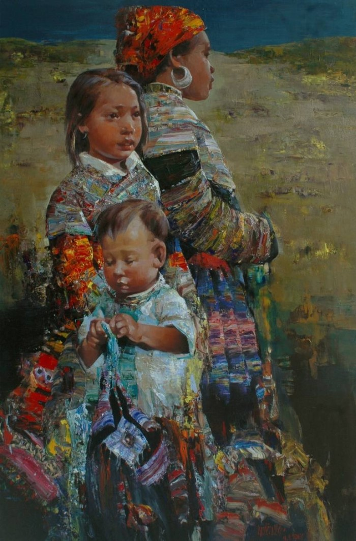 Вьетнамский художник. Ha Nguy Dinh