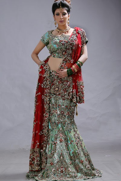 Fashion World Latest Fashion: New Fish Tail Bridal Lehenga