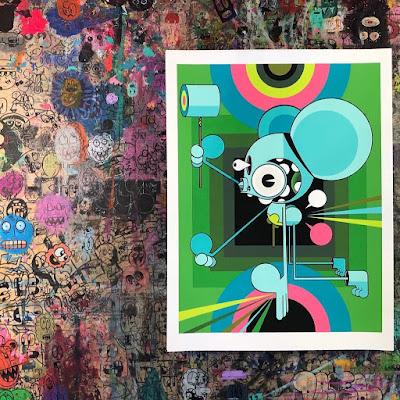 Space Monkey (Emanation 1) Screen Print by Dalek