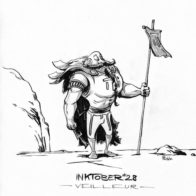 Watchmen sentinel traveller inktober fabrique character bd by lePueblo Fabric