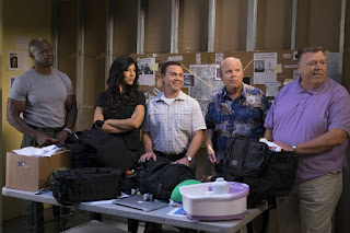 Terry, Rosa, Boyle, Scully and Hitchcock join Jake and Holt in Coral Palms.