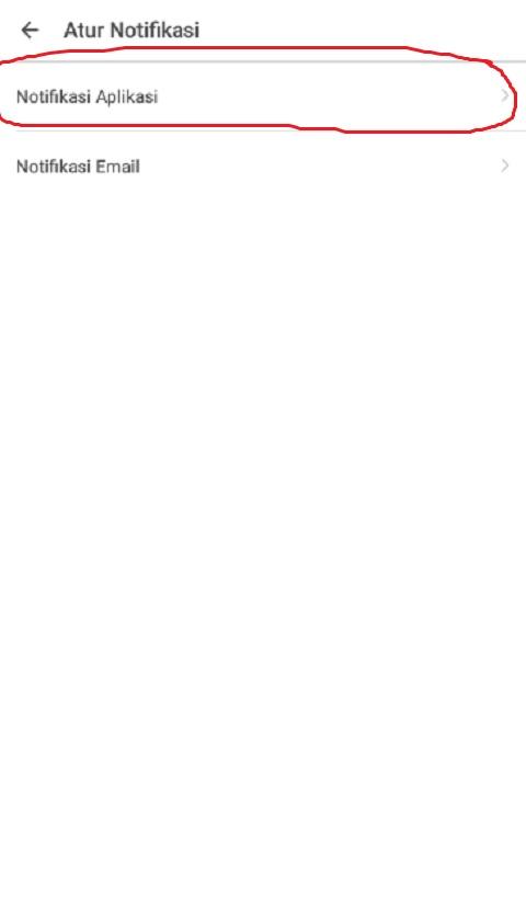 Klik Notifikasi Aplikasi pada Tokopedia