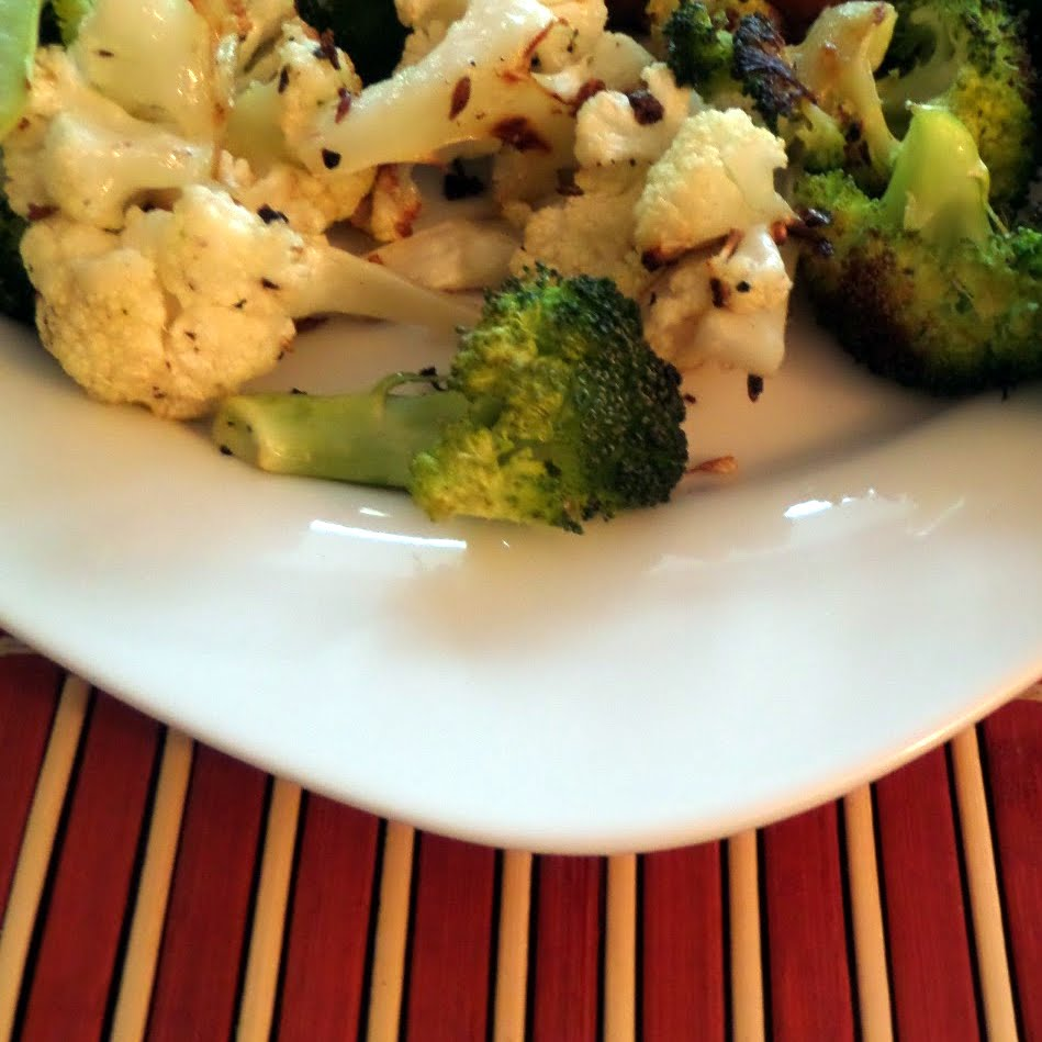 roasted cauliflower and broccoli with cumin seeds