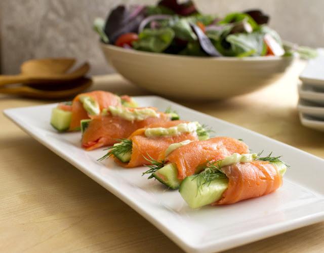 salmon wasabi appetizer