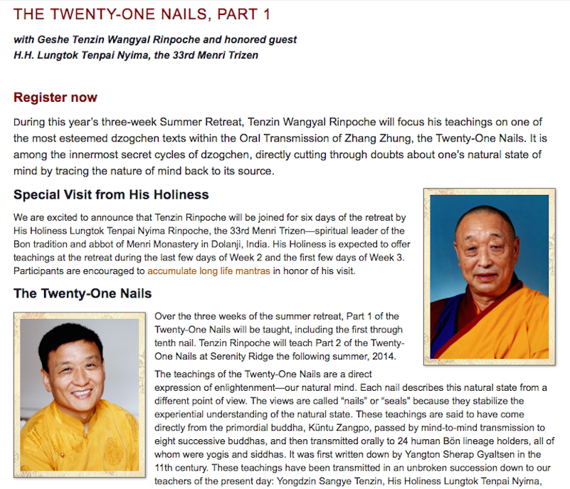 Okar Research: Twenty-One Nails: Oral Transmission of Zhang Zhung