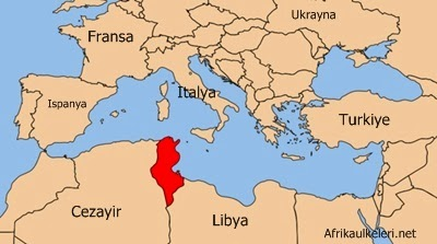 Tunus Neresi. Tunus Harita