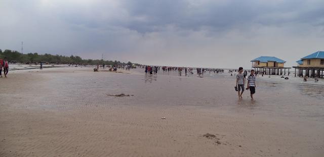 Pantai tenggayung di kabupaten Bengkalis