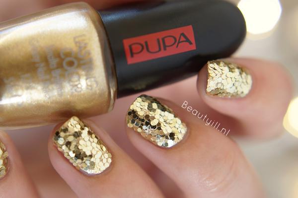 DIY Nail Art | PUPA Party Queen Nailart kit Gold Paillettes