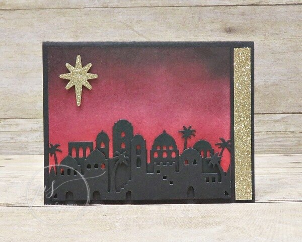 Bethlehem Edgelits, Stampin'Up!, Sponging Skyline, Free Stamping Print out, Stampin'Up!