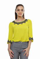 Bluza galbena din vascoza B02 (Ama Fashion)