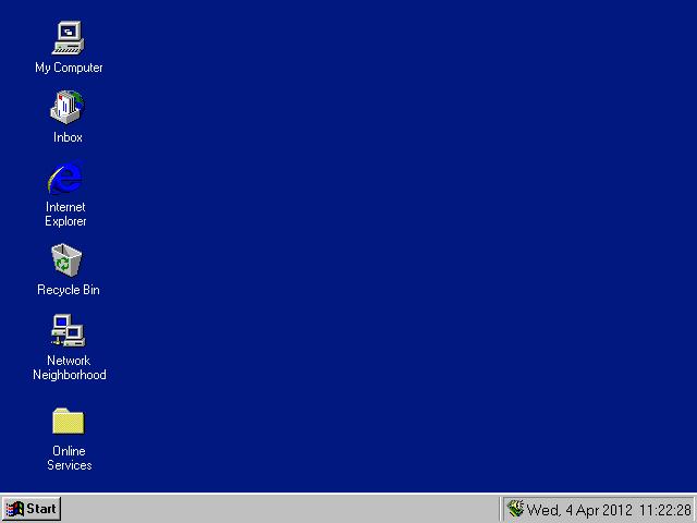 Windows 95 Desktop