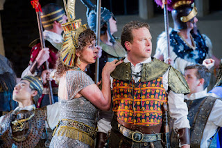 Heather Shipp, Peter Auty  - Aida - Opera Holland Park - photo Robert Workman