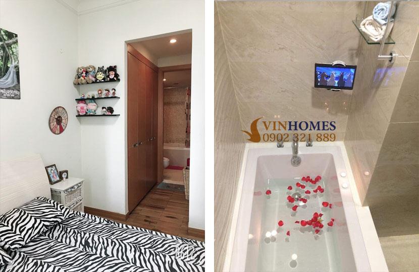 thuê căn hộ 4 phòng ngủ Landmark 1 tầng 15 nội thất đẹp | bồn tắm nằm