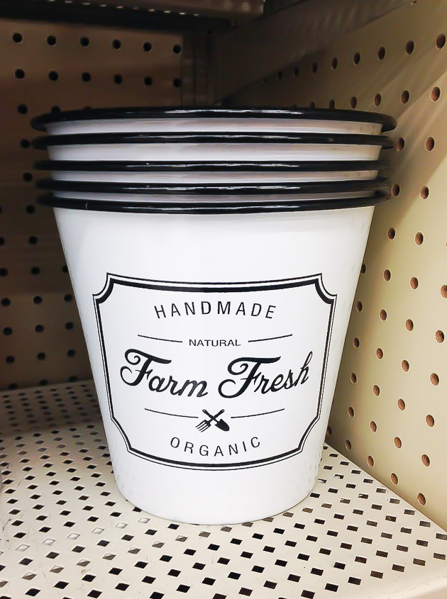 Hobby Lobby farm fresh bucket